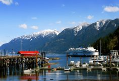 BC Ferries terminal at Horseshoe Bay, North Vancouver, British Columbia, Canada, providing service to Vancouver Island, the Gulf Islands and the Sunshine Coast