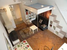 Loft+Beds+For+Adults | SMALL APARTMENT WITH 2 LOFT BEDS. CAN SLEEP 6 ADULTS.