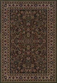 RugStudio presents Sphinx By Oriental Weavers Ariana 213G8 Dark Green Machine Woven, Better Quality Area Rug