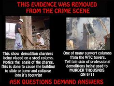 911 Truth Info - How demolition charges are set to drop a building into its footprint.