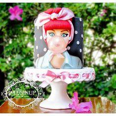 Retro bubble gum cake for birthdays