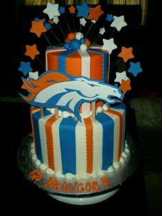 Denver Broncos Cake Go Fans Peyton Manning Super Bowl