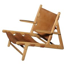 Borge Mogensen Hunting Chair. Vintage Danish Modern. | From a unique collection of antique and modern lounge chairs at http://www.1stdibs.com/furniture/seating/lounge-chairs/