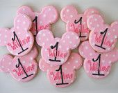 Minnie Mouse Cookie Favors. For more great birthday party ideas and decorations visit Get The Party Started on Etsy at www.GetThePartySt...