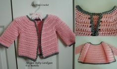 free crochet pattern Abigail Baby Cardigan 6-12 months