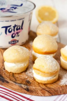 Total Greek Yoghurt Lemon Cakes, recipe and #shop commissioned by #cbias