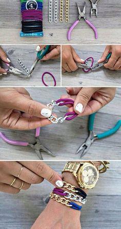 19 pomysłów na własnoręcznie robione bransoletki - instrukcje