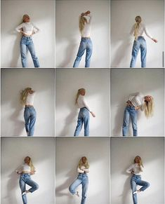 There are 2 tips to buy top, jeans. Studio Photography Poses, Fashion Photography Poses, Fashion Poses, Creative Fashion Photography, Indoor Photography, Teenage Girl Photography, Ideas For Instagram Photos, Instagram Pose, Insta Photo Ideas
