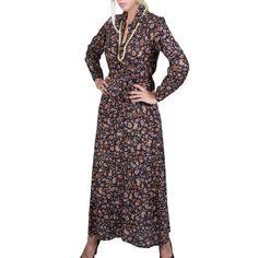 ALE Γυναικείο μακρυμάνικο μακρύ φόρεμα
