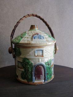 Cottage Ware Biscuit / Cracker / Cookie Jar. via Etsy.