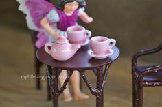 Fairy Gardens WA Australia | Miniature Fairies, Furniture, Accessories, Houses and More - My Little Fairy Garden - Pink Tea Set