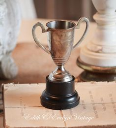 Vintage Best Rabbit Hound Trophy Cup Silverplate by www.edithandevelyn.etsy.com