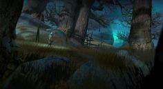 Dark Forest, Aleksandr Nikonov on ArtStation at https://www.artstation.com/artwork/bWmzv