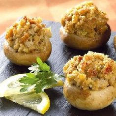 Crab stuffed mushrooms a perfect holiday appetizer