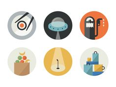 Flat Icons / Flat Design / Icons Design / Icons / Pictograms / Signs / Glyph Profiles by Sean Farrell #flat #design #inspiration