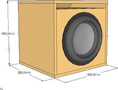 Project for sub woofer 12 in. 500 watts with duct. -