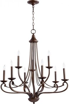 Nine Light Oiled Bronze Up Chandelier : SKU MXCR | Dulles Electric Supply Corp.