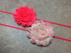 Neon pink headband set, newborn headband, baby headband, baby girl, neon headband, neon pink, inability headbands -BL263 on Etsy, $8.95