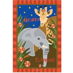 Trademark Art Giraffe & Elephant Canvas Art by Grace Riley, Size: 18 x 24, Multicolor