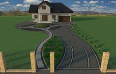 Stamped Concrete, Kuta, Garden Planning, Pathways, Garden Landscaping, Golf Courses, Pergola, Home And Garden, Exterior