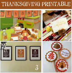 Free Printable Thanksgiving Crafts