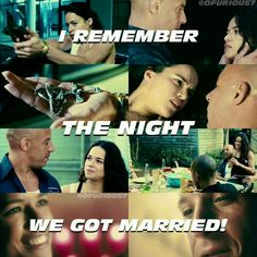 """In this scene I was like """"wtf , when did they get married"""" love them so much Dom and Letty F&F 7 Letty Fast And Furious, Movie Fast And Furious, Furious Movie, The Furious, Movies Showing, Movies And Tv Shows, Dramas, Michael Rodriguez, Dom And Letty"""