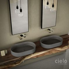 Square washbasin 40 colored Arenaria Shui Comfort - Wash basin colored bathroom Ceramica Cielo