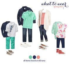 What to wear for family photos! Adorable outfits for the whole family. Perfect for your spring photo session with Miss Freddy!