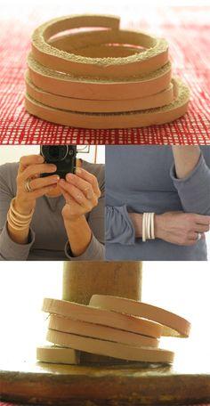 DIY leather bracelets