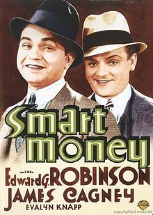 Smart Money is a film starring Edward G. Robinson and James Cagney, the only time Robinson and Cagney made a movie together, despite being the two leading gangster actors at Warner Brothers studios all through the James Cagney, Old Movies, Vintage Movies, Movies Box, Watch Movies, Movie Theater, Movie Tv, Theatre, Edward G Robinson