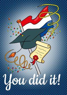#Geslaagd - You did it!, verkrijgbaar bij #kaartje2go voor € 1,89