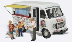 Capture the classic designs and simple lifestyles of the 1940s and 1950s. Each finely crafted custom painted automobile figure and accessory adds color interest and authenticity to any layout dior...
