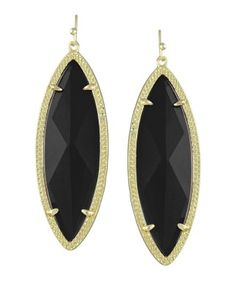 Jessa Statement Earrings in Black - Take 15% off TODAY only from noon to midnight PST w/code EARRINGS15. #KendraScott