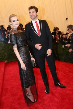 Diane Kruger in Chanel and Joshua Jackson