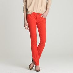 I'm feeling this 'Vibrant Flame' color from Jcrew, perhaps a nice match for my leopard print shirt?!