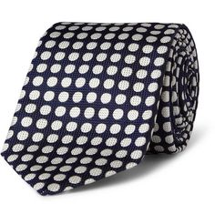 Drake's Spotted Woven-Silk Tie | MR PORTER