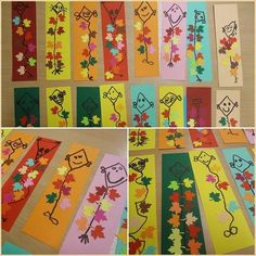 66jana Autumn Activities For Kids, Art Activities, Kindergarten Crafts, Preschool Crafts, Autumn Art, Autumn Theme, Diy For Kids, Crafts For Kids, Fall Door Decorations