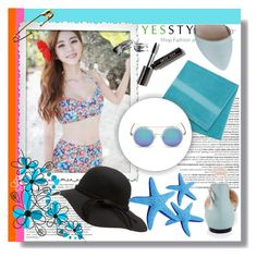 """""""YESSTYLE 5"""" by mini-kitty ❤ liked on Polyvore featuring Blue Lagoon, Balmain, Pastel Pairs, Bobbi Brown Cosmetics and KOON"""