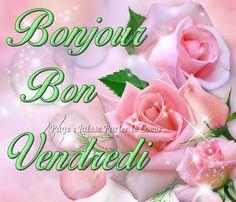 Bonjour, Bon Vendredi #vendredi rose bouquet scintille bonne journee