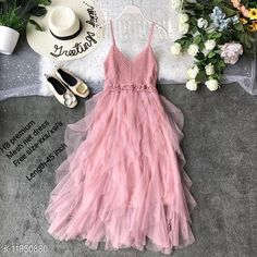 Checkout this latest Dresses Product Name: *High-Buy chrochet upper net frill party wear dress free size(xxs/xs/s) length-45 inches-pink* Fabric: Net Sleeve Length: Sleeveless Pattern: Solid Multipack: 1 Sizes: Free Size (Bust Size: 32 in, Length Size: 45 in)  Country of Origin: India Easy Returns Available In Case Of Any Issue   Catalog Rating: ★4 (259)  Catalog Name: Women's Net Dresses CatalogID_2248735 C79-SC1025 Code: 598-11850880-8742