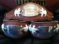 Custom Football Bracelet by KysKreativeKorner on Etsy, $35.00