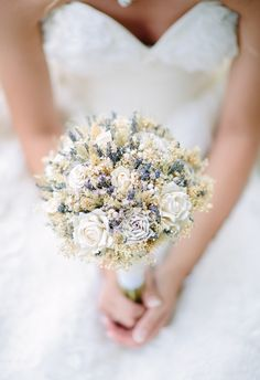Lavender and wheat bouquets = a marriage in country-chic heaven // Morgan Lindsay Photography