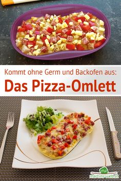 Das Pizza-Omlett. Rezept ist schon auf meinem Blog. Omelette Meister, Tupperware Recipes, Pizza, Low Carb Recipes, 31 Bags, Patriotic Party, Vegetables, Fountain Pens, Scentsy