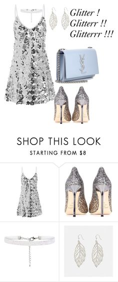 """""""Untitled #86"""" by joana-pilani ❤ liked on Polyvore featuring Jimmy Choo, Avenue and Yves Saint Laurent"""