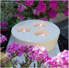 DIY Cement Candle Holders diy crafts craft ideas easy crafts diy ideas diy idea diy home easy diy diy candles for the home crafty decor home ideas diy decorations Concrete Crafts, Concrete Projects, Diy Projects, Garden Projects, Home Candles, Diy Candles, Outdoor Candles, Diy Candle Holders, Diy Patio