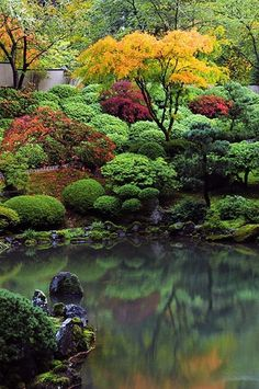 15 Most Popular Asian Garden Design Inspiration for Your Backyard - Home Bigger Portland Japanese Garden, Japanese Garden Design, Japanese Gardens, Japanese Garden Style, Japanese Garden Landscape, Japanese Garden Backyard, Japanese Plants, Japanese Nature, Modern Backyard