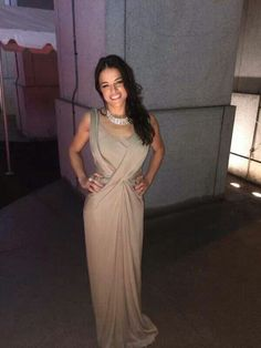 Michelle Rodriguez love her dress!