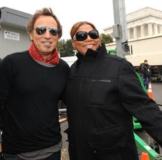 Bruce Springsteen and Queen Latifah. January 18, 2009 Queen Latifah is an American actress, rapper, songwriter, singer and model. Born in Newark, New Jersey. pinkcadillacmusic.it