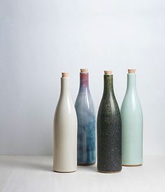 Ceramic BottlesArtisan made for Sゝゝ  Made in Japan    http://www.analoguelife.com/