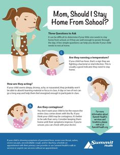 When should you keep your sick child home from school?   Summit Health